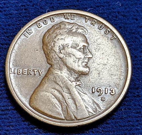 1913S VERY FINE LINCOLN