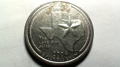 2004 P Texas 50 States and Territories Quarters
