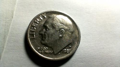 1981 P Roosevelt Dimes