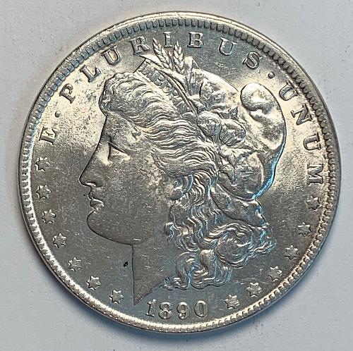 1890 Morgan Silver Dollar AU [MDL 51]