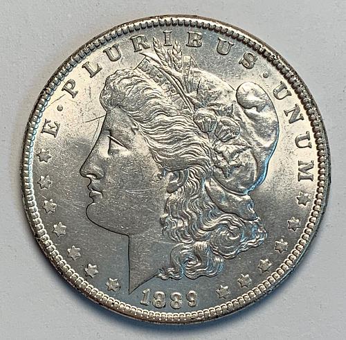 1889 Morgan Silver Dollar AU55 Choice AU [MDL 52]