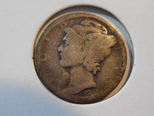 1926 D Mercury Silver Dime,  (26DA1)