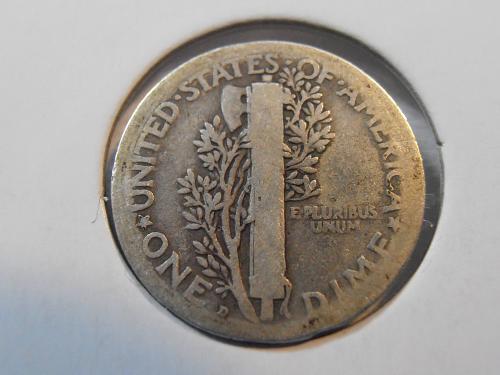 1919 D Mercury Silver Dime,  (19DA1)