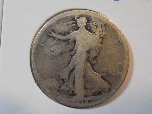 1918 D Walking Liberty Half Dollar (18DAC2) FREE SHIPPING