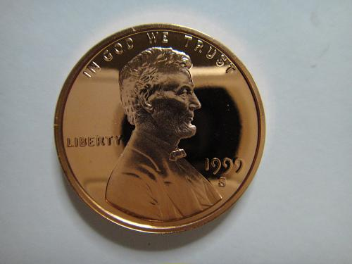 1999-S Lincoln Cent Proof-66 (GEM+) RED