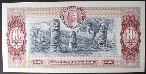 Colombia P407g 10 Pesos Oro UNC62