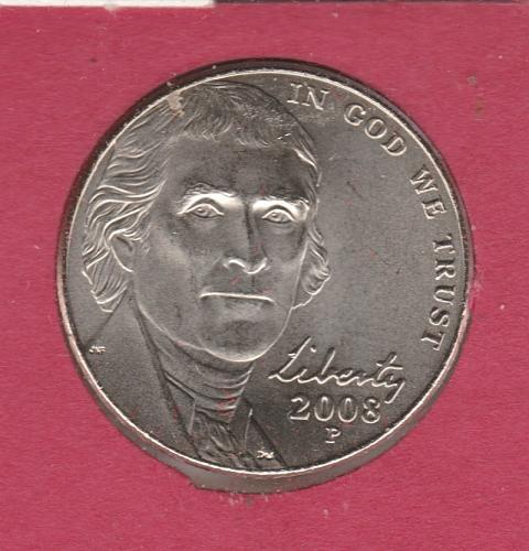 2008 P Jefferson Nickels - #3