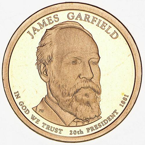 2011   S  PROOF  JAMES GARFIELD   GOLDEN DOLLAR