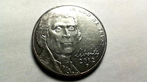 2012 P Jefferson Nickels