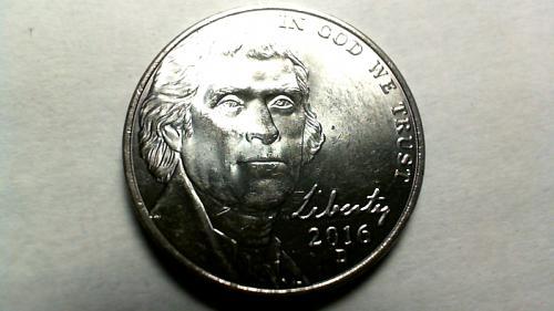 2016 D Jefferson Nickels