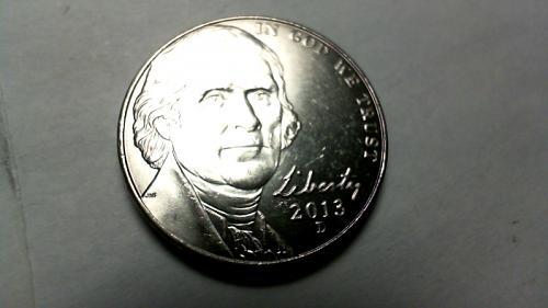 2013 D Jefferson Nickels
