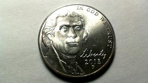2013 P Jefferson Nickels