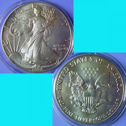 American Silver Eagle 1992 P
