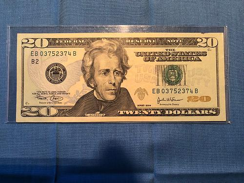 Federal Reserve Note: 2004; $20