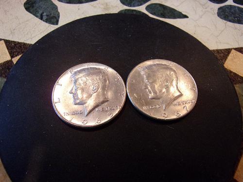 1965 1967 KENNEDY HALF DOLLARS 40% SILVER EXTRA FINE