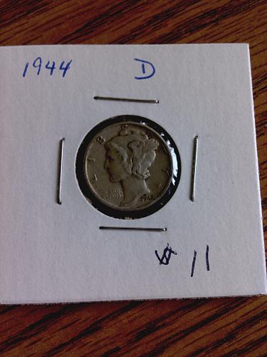 1944 D Mercury Dime Nice