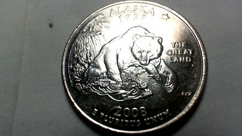2008 D Alaska 50 States and Territories Quarters