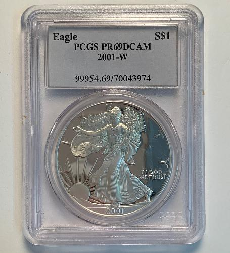 2001-W - 2003-W Silver Eagle Proof Trio Set