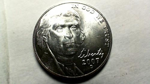 2007 D Jefferson Nickels