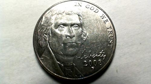 2008 P Jefferson Nickels