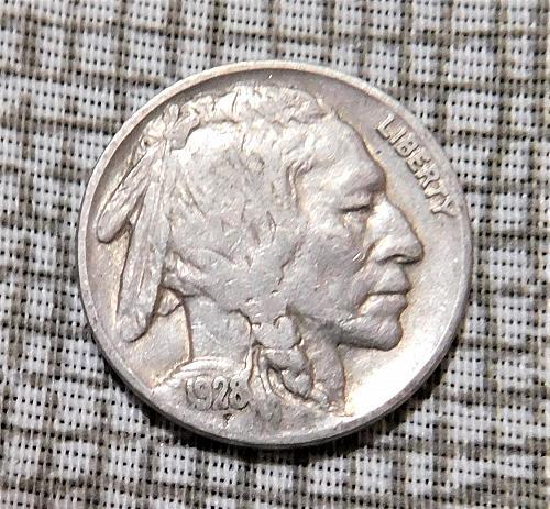 1928 P Buffalo//Indian Head Nickel
