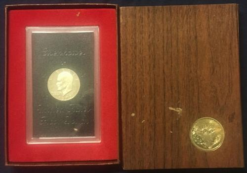 1973 S Eisenhower Dollar: Silver Clad in Mint Collector's Case