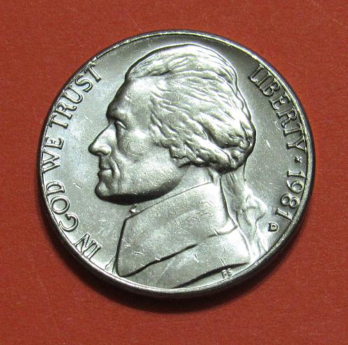 1981-D 5C Jefferson Nickel