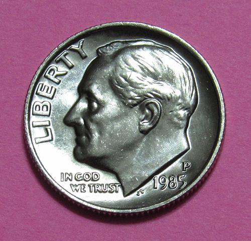 1985-P 10 Cents - Roosevelt Dime