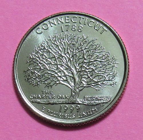 1999-D 25 Cents - Connecticut State Quarter