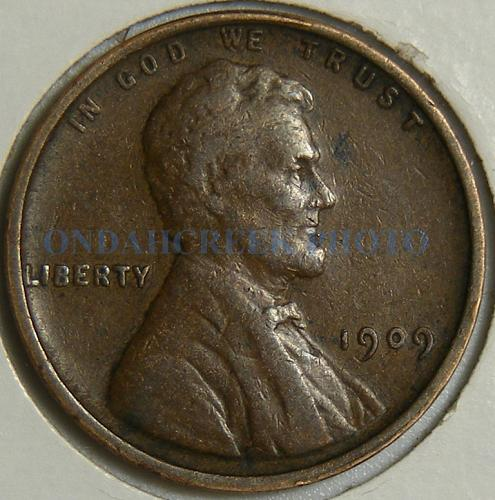 1909 VDB Lincoln Cent Very Fine with Lamination Error