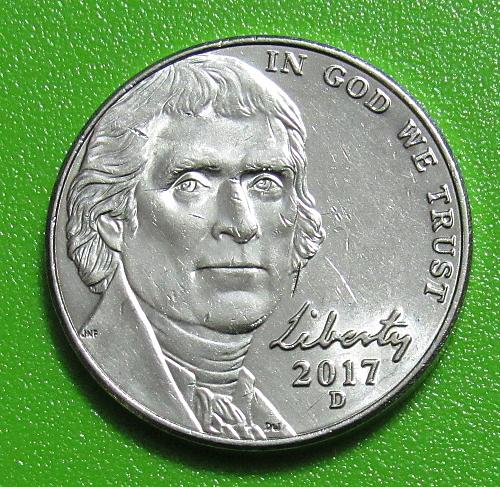 2017-D 5 Cents - Jefferson Nickel