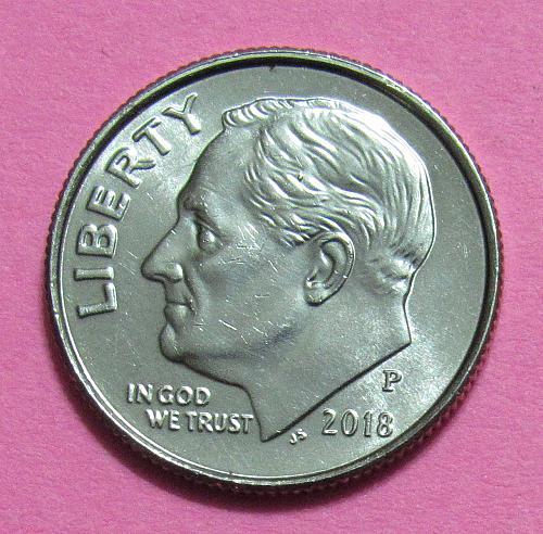 2018-P 10 Cents - Roosevelt Dime