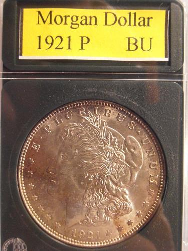 1921 P BU Morgan Silver Dollar -  (21PHS1)