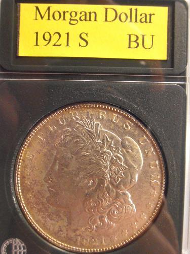 1921 S BU Morgan Silver Dollar -  (21SHS)