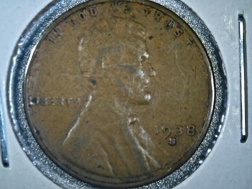 1938 S Lincoln Cent ERROR RPM