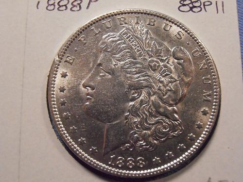1888 P P BU Morgan Silver Dollar -  (88P11)
