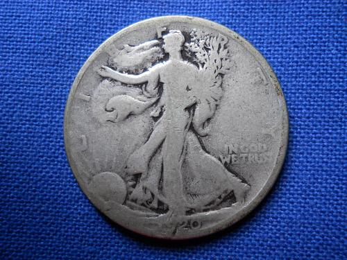 1920 (P) Walking Liberty Half Dollar.  Good Grade. Original Surfaces.  LC#117