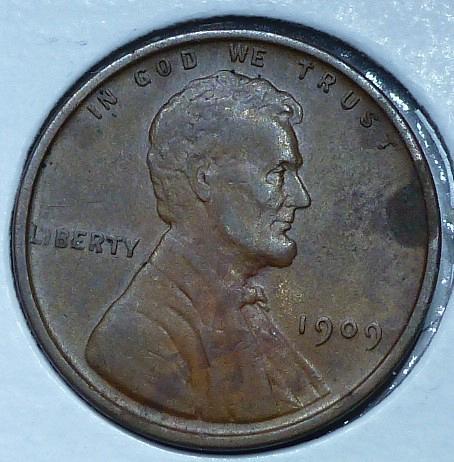 1909-P Very Fine  Lincoln Wheat Cent ( 824A)
