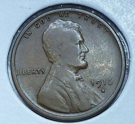 1916-S Very Fine  Lincoln Wheat Cent ( 824P)