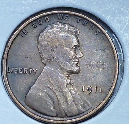 1911-P  EXTRA FINE  Lincoln Wheat Cent ( 824C)