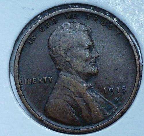 1915-D  EXTRA FINE  Lincoln Wheat Cent ( 824M)