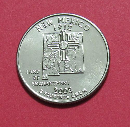 2008-D 25 Cents - New Mexico State Quarter