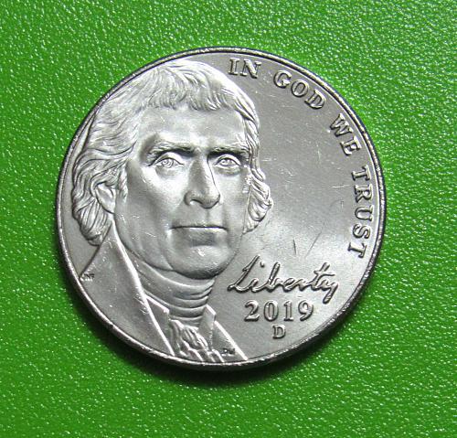 2019-D 5 Cents - Jefferson Nickel