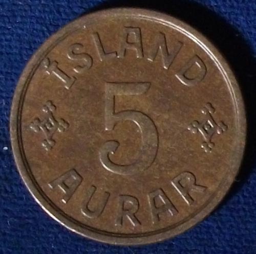 1931 Iceland 5 Aurar XF