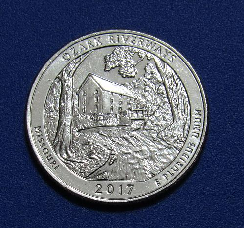 2017-D 25 Cents - Ozark Riverways Missouri National Park America Beautiful Quart