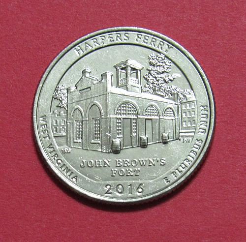 2016-D 25 Cents - Harpers Ferry West Virginia National Park America Beautiful Qu