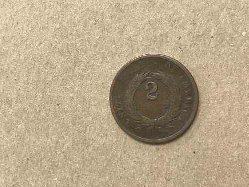 1865 P 2 CENT