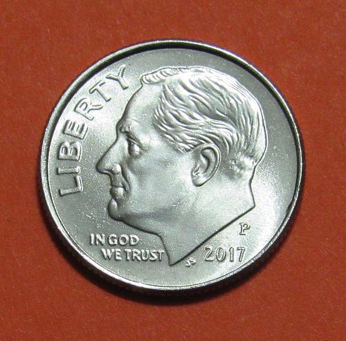 2017-P 10 Cents - Roosevelt Dime
