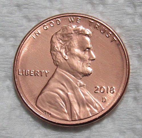 2018-D 1 Cent - Lincoln Shield Cent