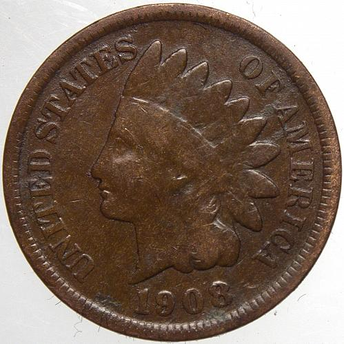 1908 P Indian Head Cent #42